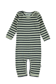 Molo Blue Stripe Playsuit - Front cropped