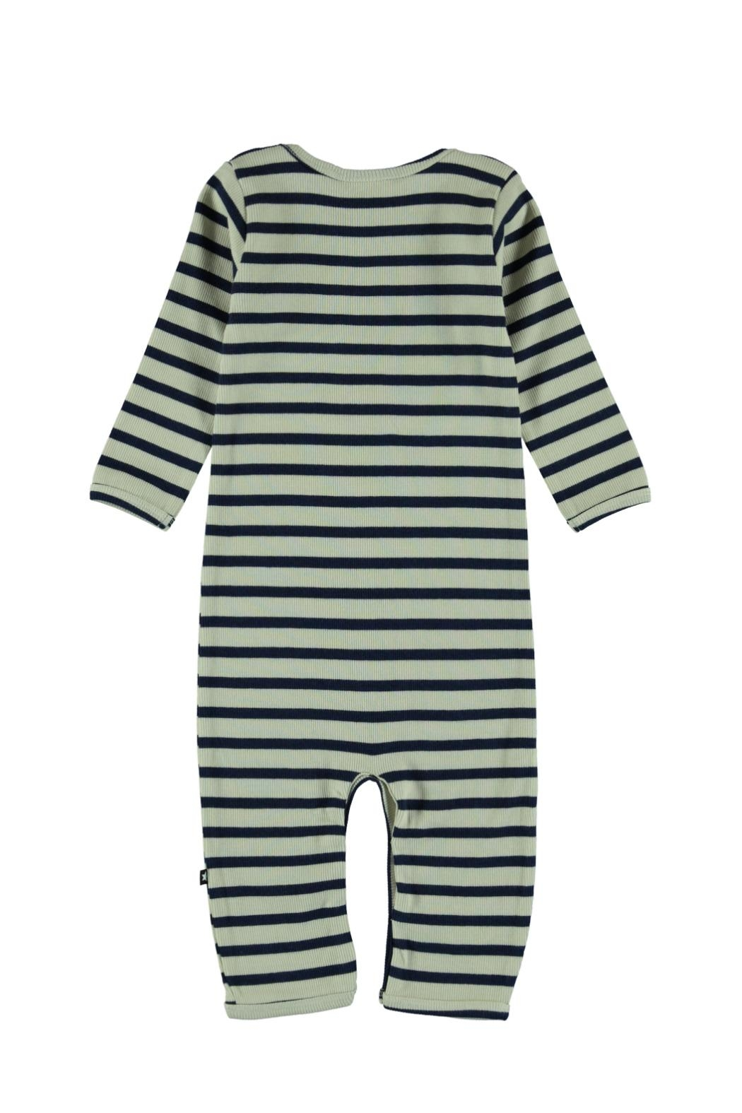 Molo Blue Stripe Playsuit - Front Full Image