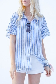 My Story Blue Stripe Shirt - Front cropped