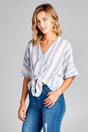 Renee C Blue Stripe Top - Product Mini Image