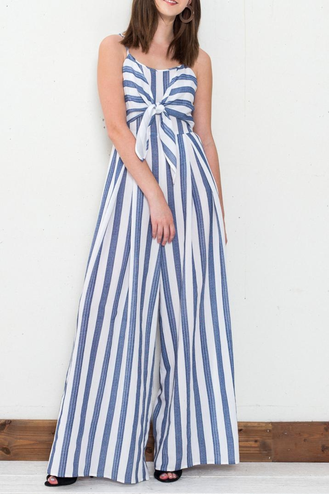 e55f9d03c41 Flying Tomato Blue Striped Jumpsuit from New York by Dor L Dor ...