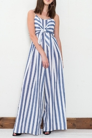 Flying Tomato Blue Striped Jumpsuit - Product Mini Image