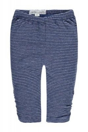 Belly Button Blue Striped Leggings - Front cropped