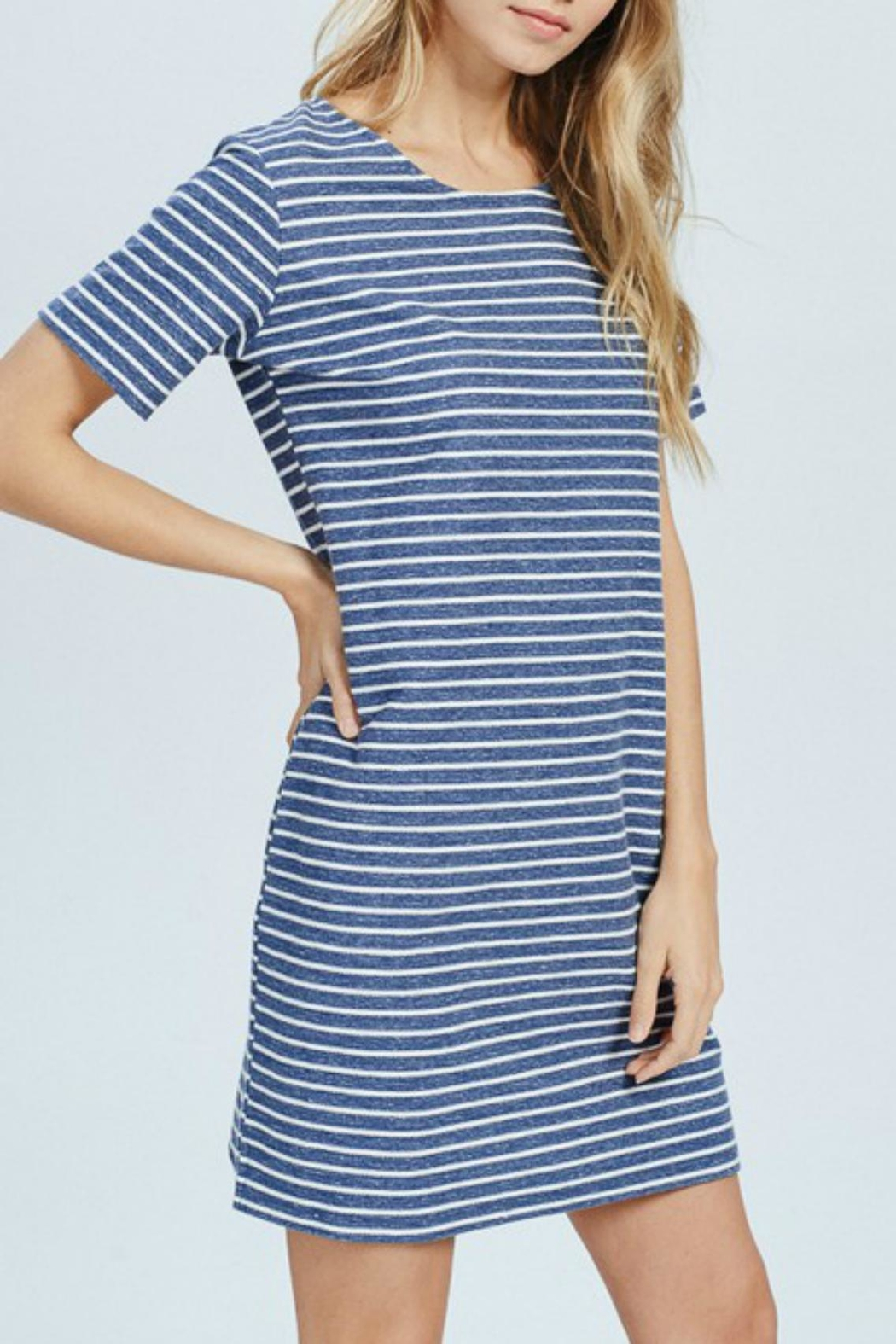 Wishlist Blue-Striped Mini Dress - Front Full Image