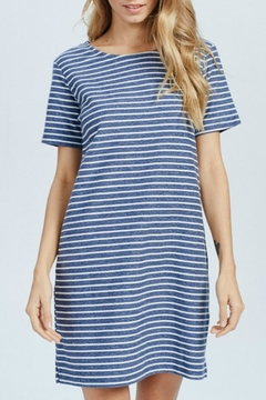 Shoptiques Product: Blue-Striped Mini Dress
