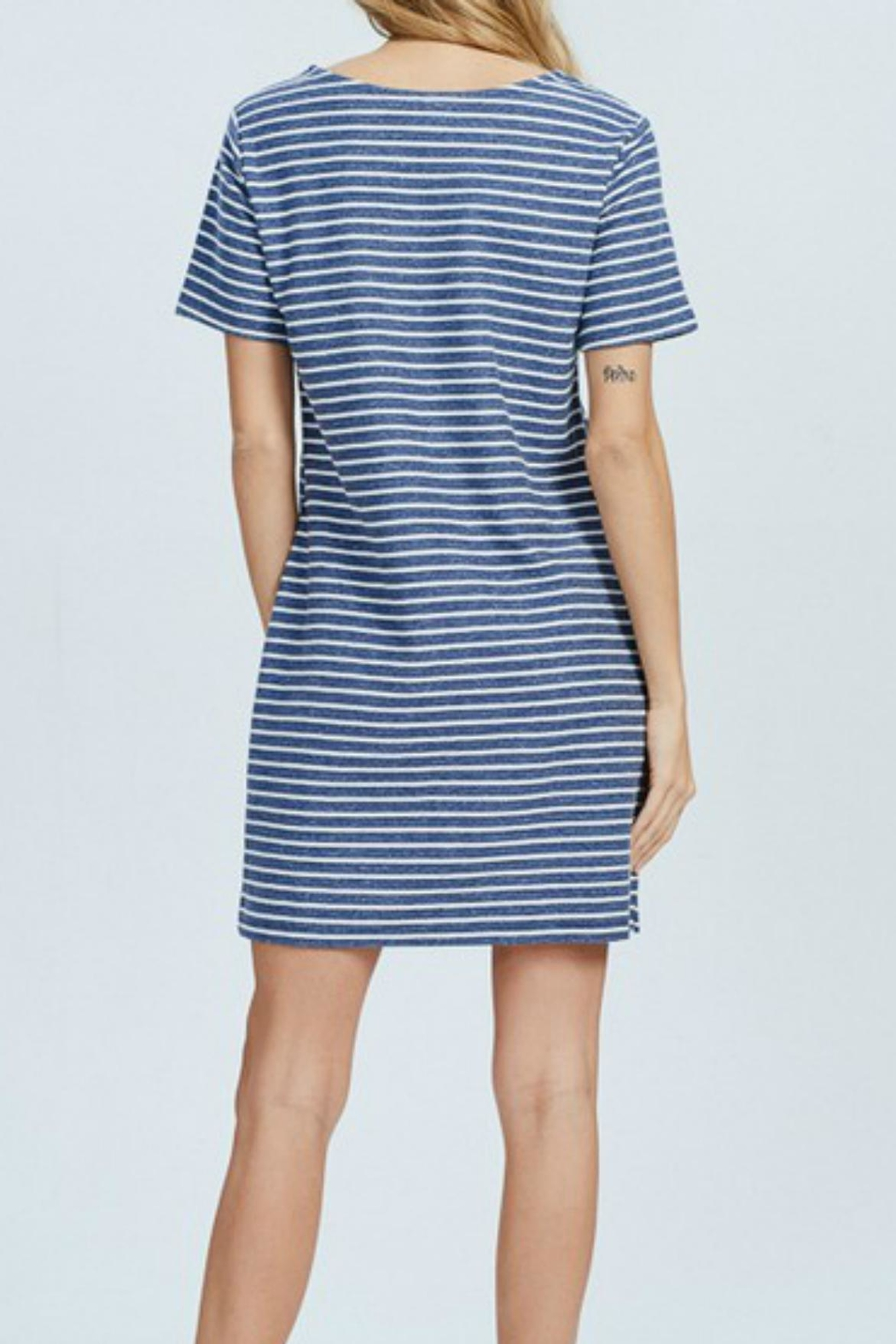 Wishlist Blue-Striped Mini Dress - Back Cropped Image