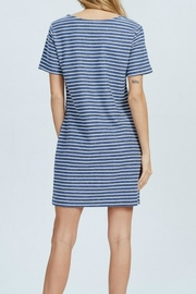 Wishlist Blue-Striped Mini Dress - Back cropped