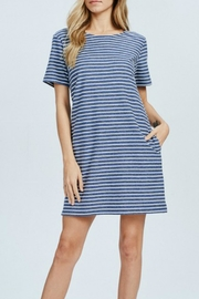 Wishlist Blue-Striped Mini Dress - Side cropped