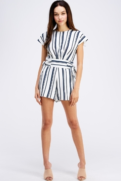 Shoptiques Product: Blue Striped Romper