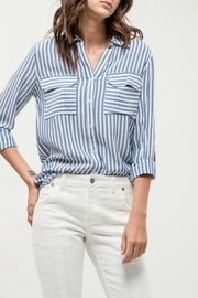 Blu Pepper Blue Striped Shirt - Product Mini Image