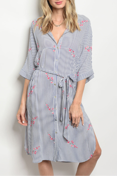 essue Blue Striped Shirt Dress - Product List Image