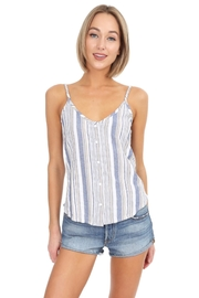 Bobi Los Angeles Blue Striped Tank - Product Mini Image