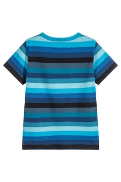 Paul Smith Junior Blue-Striped 'Track' T.Shirt - Alternate List Image