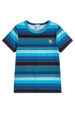 Paul Smith Junior Blue-Striped 'Track' T.Shirt - Product List Image