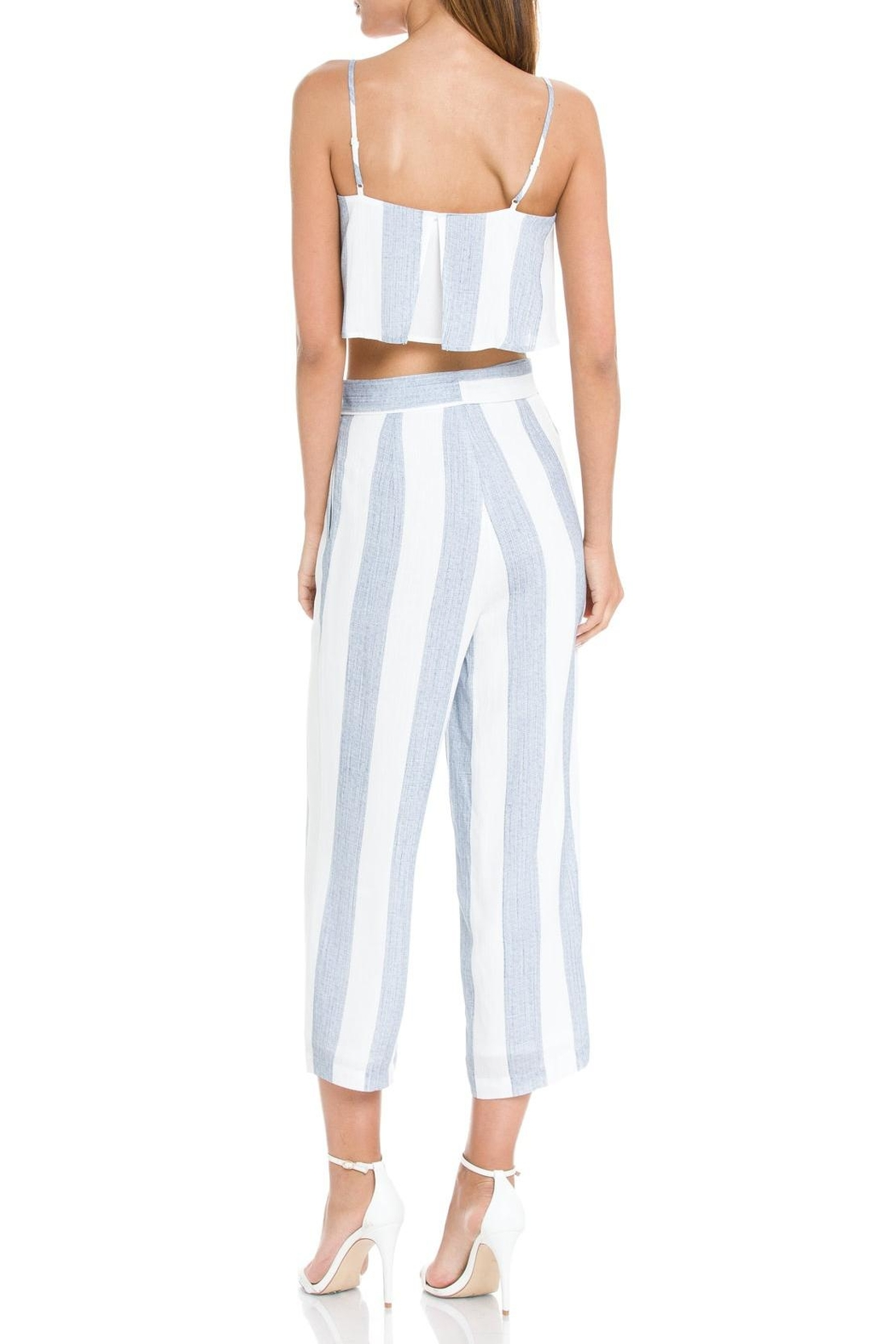 After Market Blue Striped Two-Piece-Set - Front Full Image