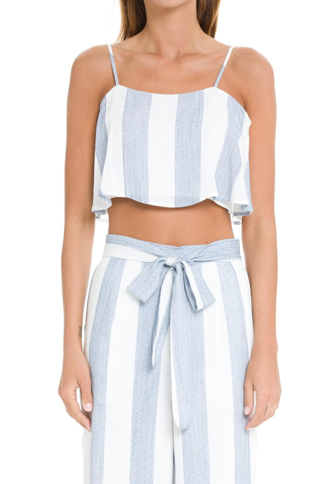 After Market Blue Striped Two-Piece-Set - Side Cropped Image