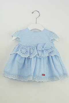 Dolce Petit Blue Stripes Dress - Product List Image