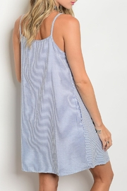 Ces Femme  Blue Stripes Dress - Front full body