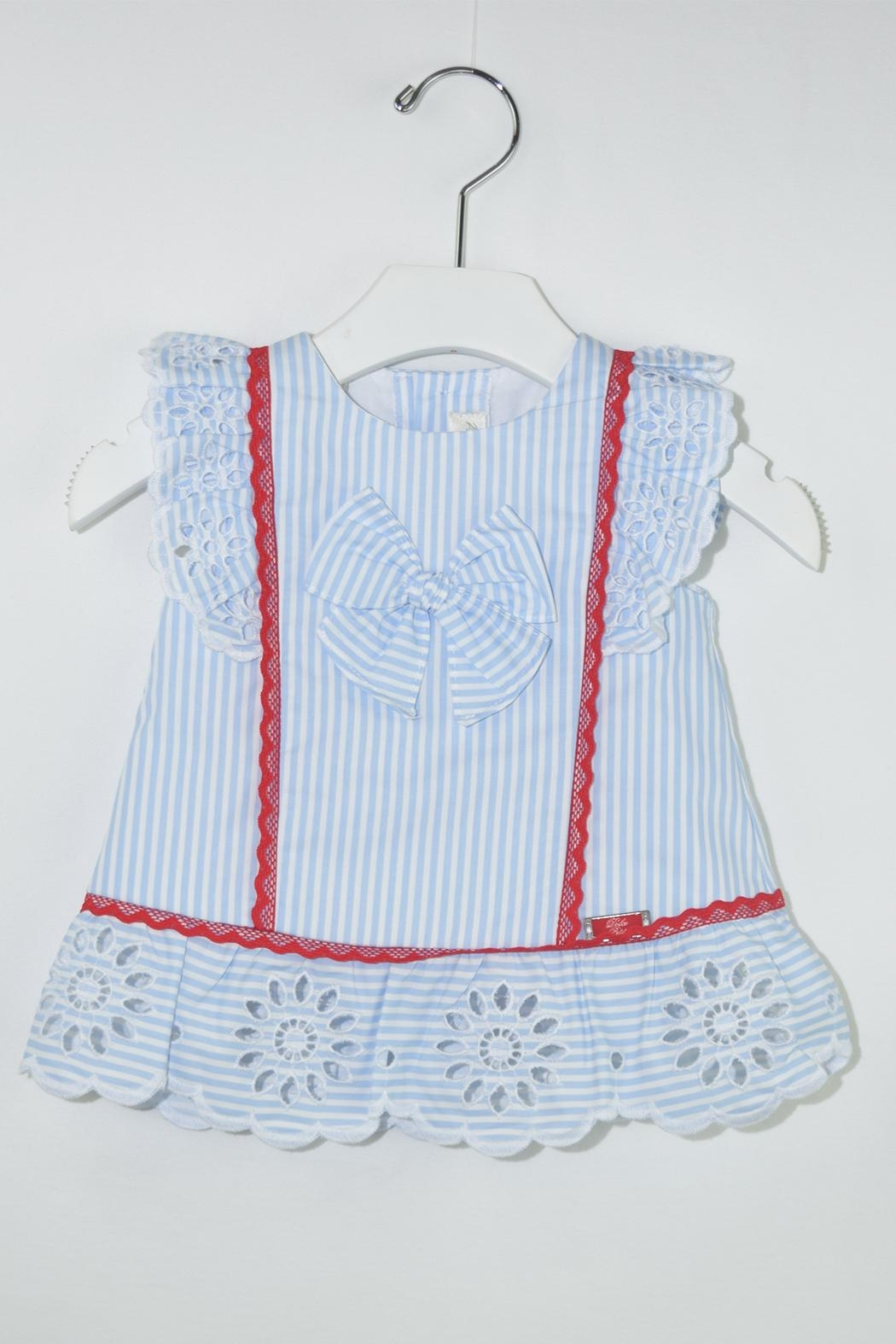 Dolce Petit Blue Stripes Outfit - Front Full Image