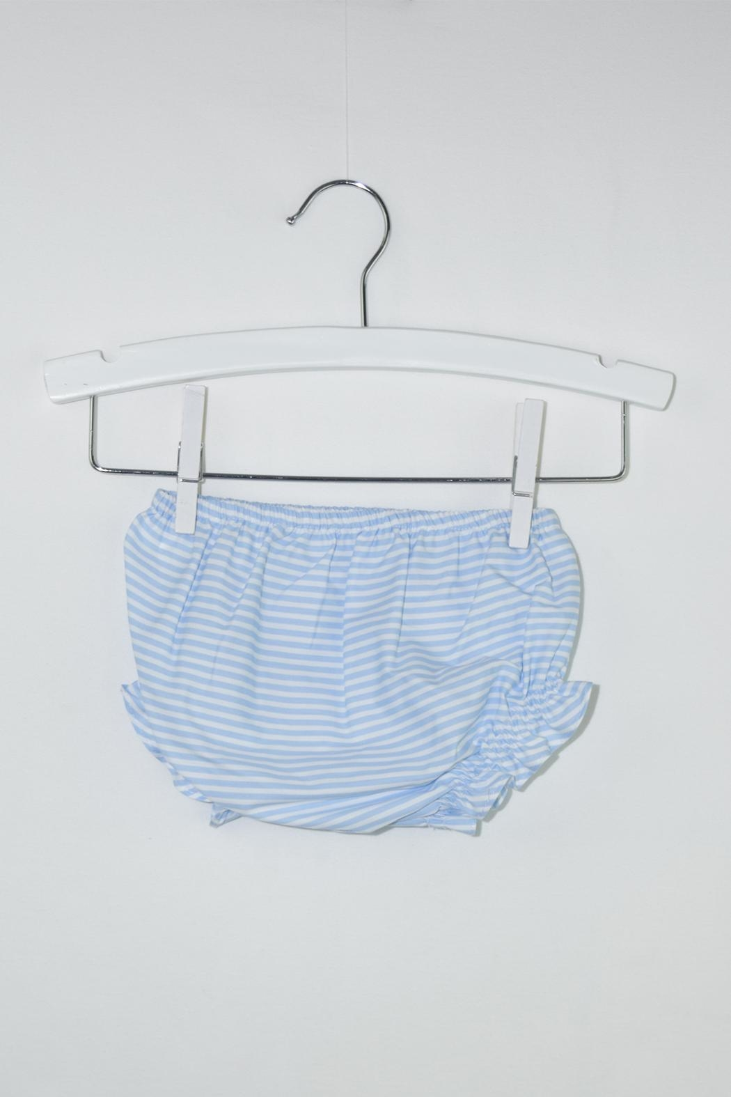 Dolce Petit Blue Stripes Outfit - Back Cropped Image