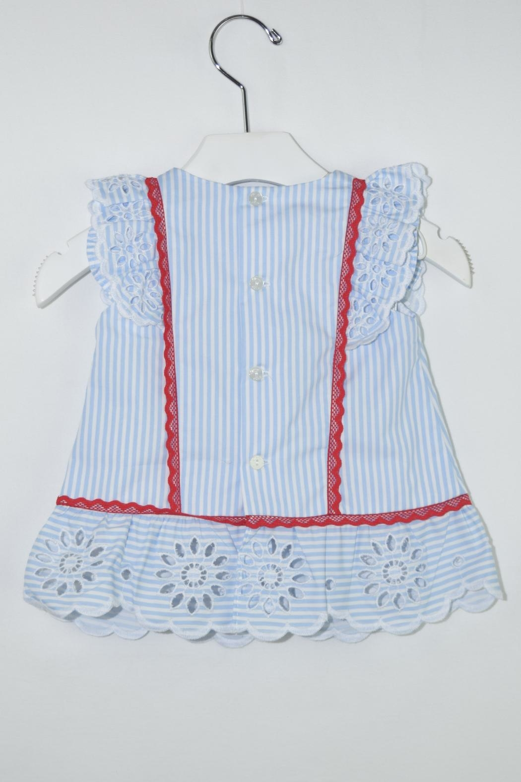 Dolce Petit Blue Stripes Outfit - Side Cropped Image