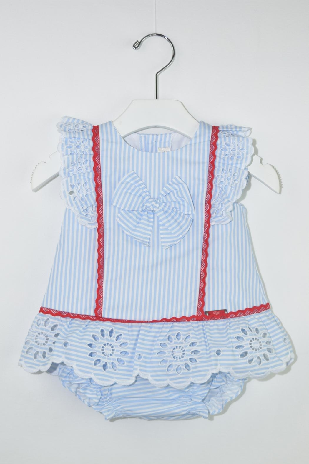 Dolce Petit Blue Stripes Outfit - Main Image