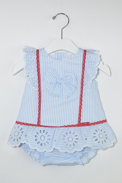 Dolce Petit Blue Stripes Outfit - Product List Image
