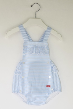 Dolce Petit Blue Stripes Romper - Product List Image