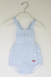 Dolce Petit Blue Stripes Romper - Front cropped