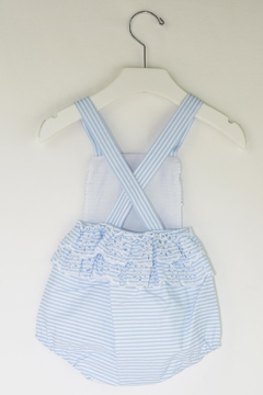 Dolce Petit Blue Stripes Romper - Alternate List Image