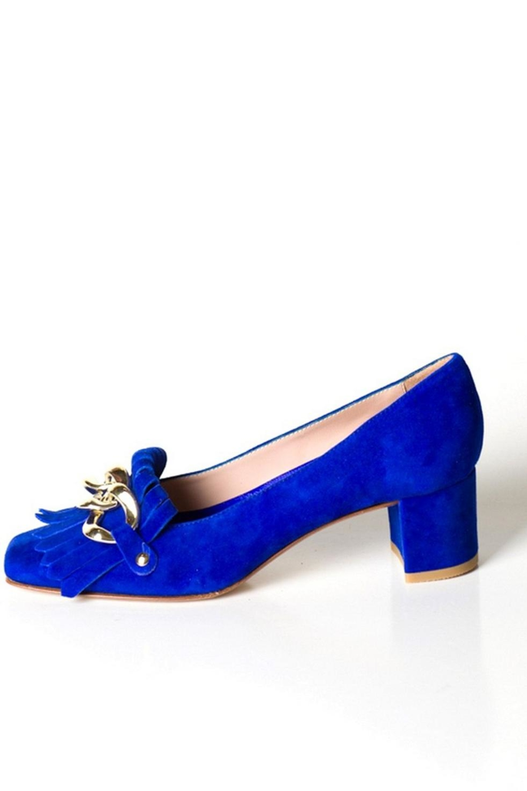 Pascucci Blue Suede Court - Front Cropped Image