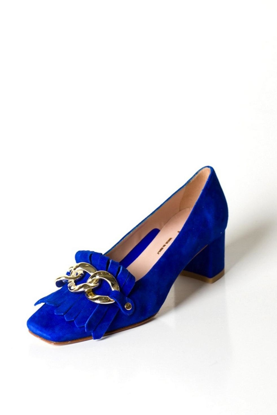 Pascucci Blue Suede Court - Front Full Image