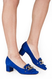 Pascucci Blue Suede Court - Back cropped