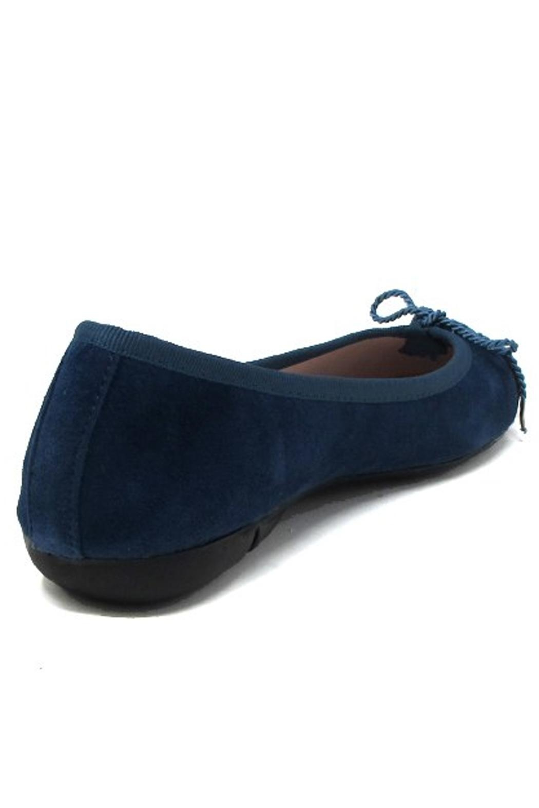 Paul Mayer Blue Suede Flats - Front Full Image