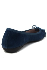Paul Mayer Blue Suede Flats - Front full body