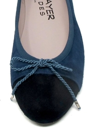 Paul Mayer Blue Suede Flats - Back cropped