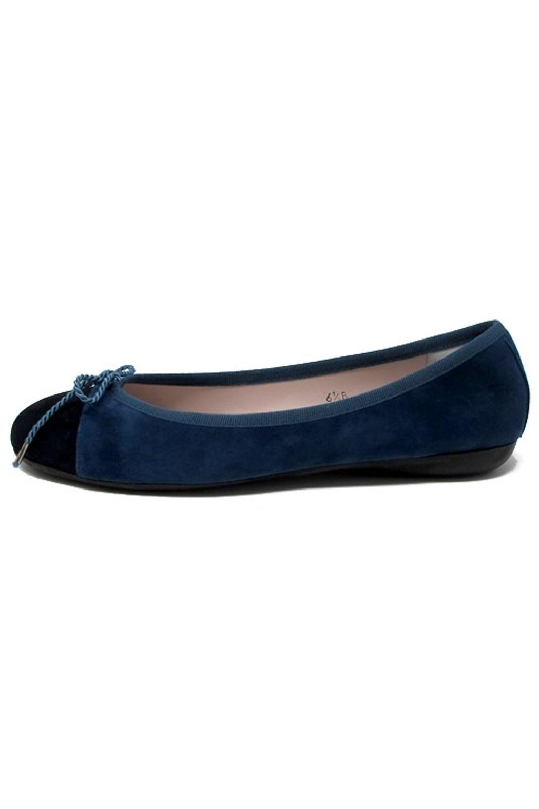 Paul Mayer Blue Suede Flats - Side Cropped Image