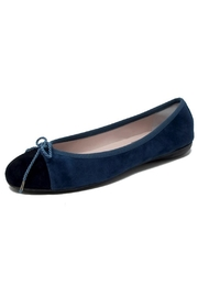 Paul Mayer Blue Suede Flats - Product Mini Image