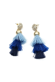 Blue Sky Blue Tassel Earrings - Product Mini Image