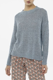 Compania Fantastica Blue Textured sweater - Product Mini Image