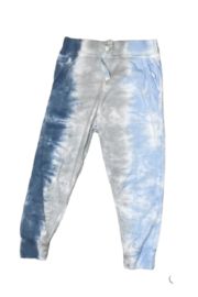 Cozii Blue Tie Dye Jersey Pant - Front cropped