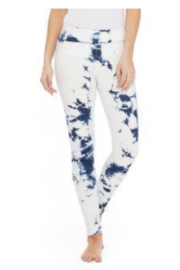 T Party Blue Tie-Dyed Leggings - Product Mini Image