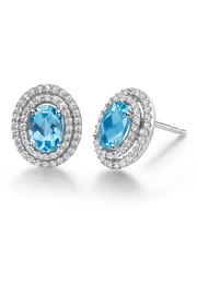 Lafonn Blue Topaz Earrings - Front cropped