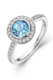 Lafonn Blue Topaz Ring - Front cropped