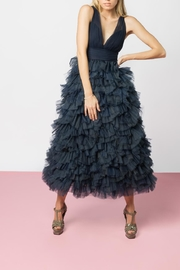 Marchesa Blue Tulle Gown - Product Mini Image