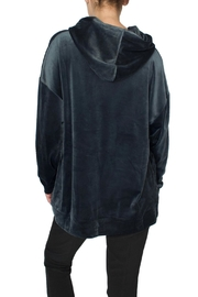 Native Youth Blue Velour Hoodie - Side cropped