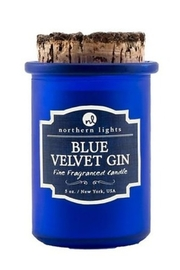 Phinas Blue Velvet Gin Candle - Front cropped
