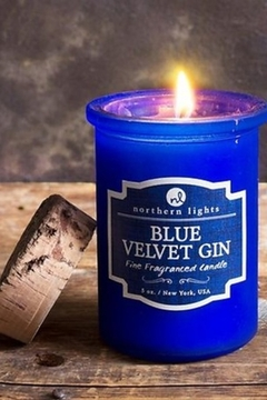 Northern Lights Blue Velvet Gin Candle - Product List Image