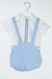 Dolce Petit Blue & White Outfit - Front cropped