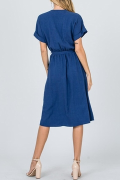 Ces Femme Blue Wrap Midi-Dress - Alternate List Image